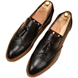 5aaddd37eaa26 Starttwin Mens Loafers Shoes Moccasins Slip on Vintage Tassel Flats Brogues  Oxford Shoes