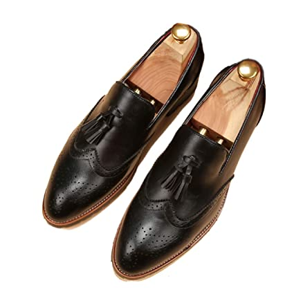 b151920014b2a Amazon.com: Starttwin Mens Loafers Shoes Moccasins Slip on Vintage ...