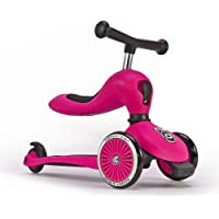 Scoot & Ride highwaykick1 2-in-1 Scooter & Balance Bike ,Ride On-Pink