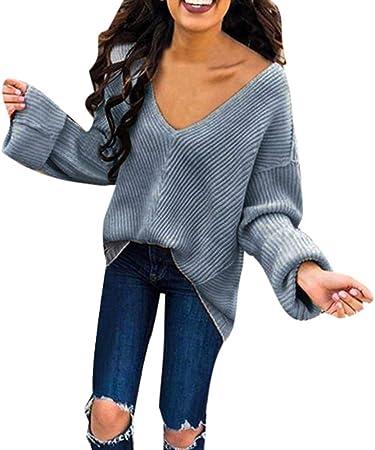 Donna V-Neck Sweater Pullover Pullover A Maglia Maglione superiore parti Felpa Camicia