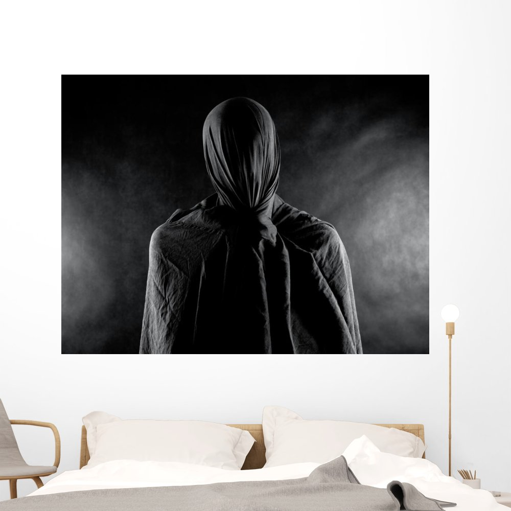 Ghost Dark Wall Mural by Wallmonkeys Peel and Stick Graphic (60 in W x 46 in H) WM365494