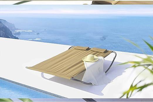 Mon Usine Discount LAquila - Cama de jardín y Tumbona balancín para 2 Personas: Amazon.es: Jardín