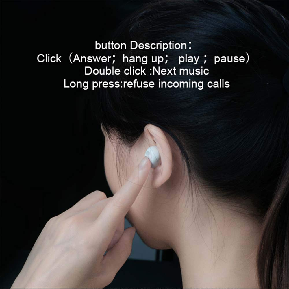 Single Waterproof Bluetooth Earbud Mini Wireless Bluetooth Earpiece Headset Black with HD Microphone /& Pocket Charging Case for Cell Phones