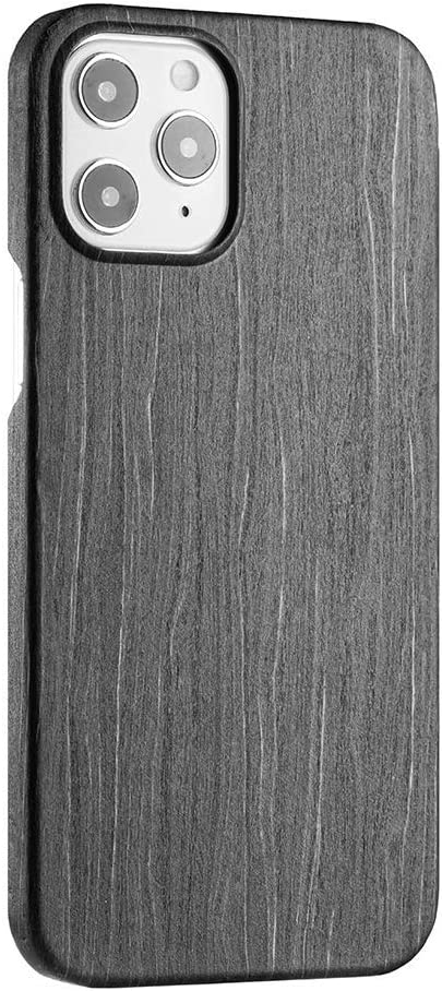 Real Wood iPhone Series Cases. Premium Wooden Designs. Ultra-Thin Reinforced with Aramid Fiber for Protection. Unique & Sustainable. (Charcoal, iPhone 12 Pro Max)