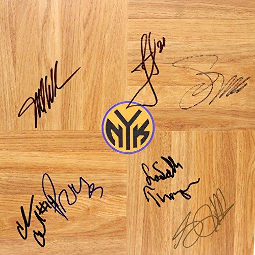 New York Knicks 2012-13 Team Signed Autographed Basketball Floorboard Iman Shumpert
