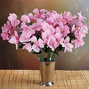 144 Wholesale Artificial Silk Amaryllis Flowers Wedding Vase Centerpiece Decor - Pink 13