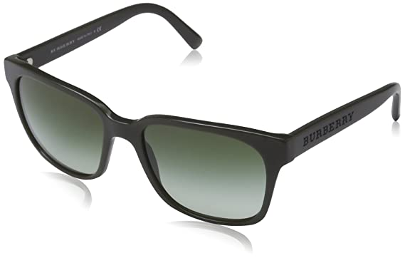 1be4c4305443 Image Unavailable. Image not available for. Color  Burberry Sunglasses -  4140   Frame  Green Lens  Green Gradient