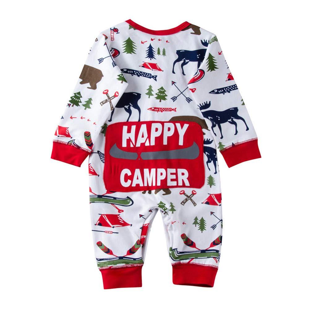 Autumn Winter Baby Romper, Fineser Cute Newborn Infant Baby Boys Girls Romper Jumpsuit Outfits Cartoon Deer Letter Print