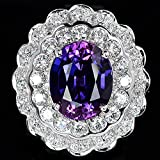 Gorgeous Womens Jewelry 925 Silver Amethyst & White Topaz Ring Wedding Jewelry (8)