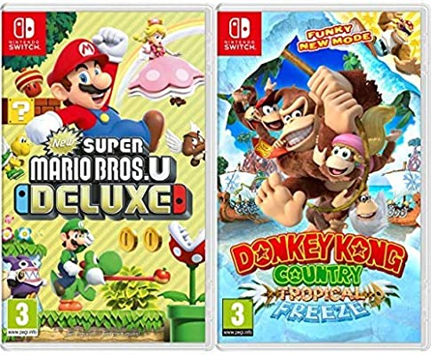 New Super Mario Bros. U Deluxe & Donkey Kong Country: Tropical Freeze: Amazon.es: Videojuegos