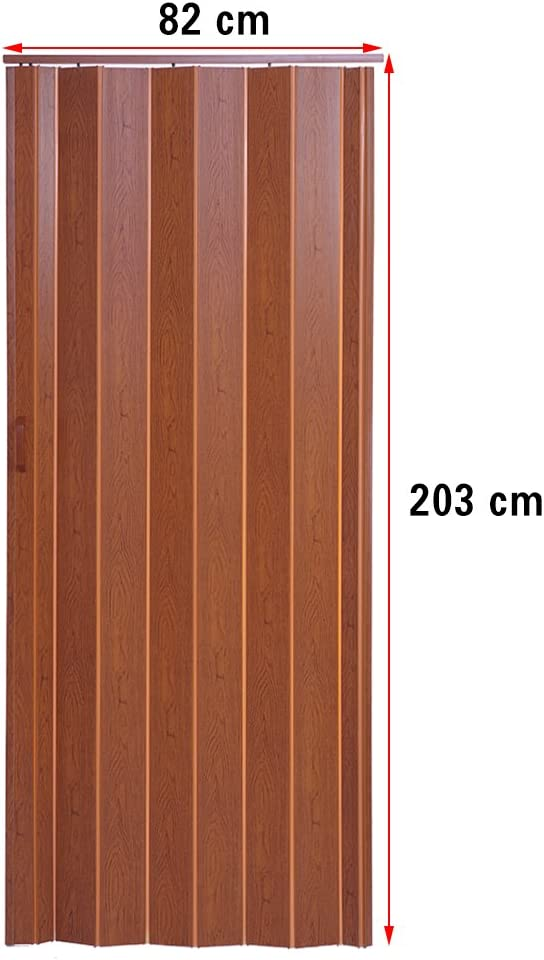 Panana PVC internal plastic folding door 6MM Brown