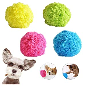Viet's VT Milo Activation Ball- Magic Ball for Dogs- Creative Home Floor Automatic Rolling Ball Vacuum Cleaner Mini Size Mocoro Microfiber Robotic Mop Ball Cleaner