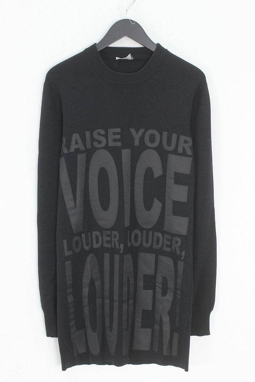 (ディオールオム) Dior HOMME 【09AW】RAISE YOUR VOICE LOUDERパッチニット(XS/ブラック) 中古 B07FBBCVG5  -