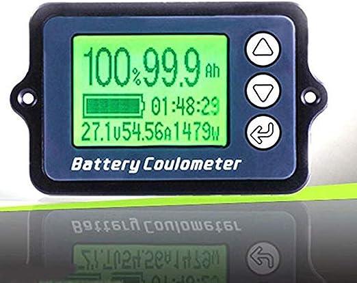 Präzisionsbatterie Tester 80 V Tk15 50 A Coulomb Messgerät Batteriekapazitätsanzeige Lcd Coulometer Power Level Display Lithium Eisen Phosphat Tester Drahtsensor Auto