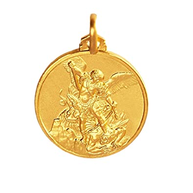 St michael the archangel locket pendant medallion st michael the archangel locket pendant medallion goldmedallion yellow gold mozeypictures Choice Image
