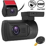 Dual Dash Cam Mini 0906 Front and Rear Dash Cam Dual FHD 1080P Car Dashboard Camera Super Night Vision,GPS,Motion Detection,Parking Mode Car DVR Recorder