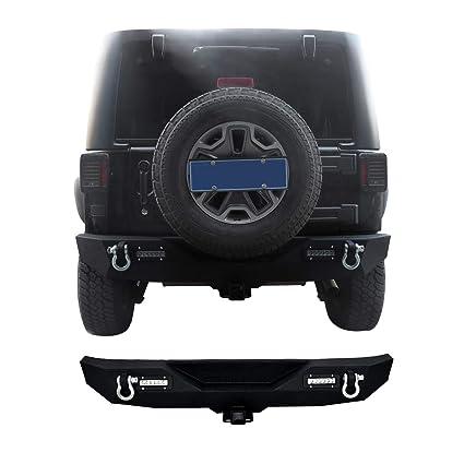 4998e77b06 Amazon.com: Goplus Rear Bumper For 2007-2016 Jeep Wrangler JK With Hooks & Fog  Light Hole (Rear Bumper): Automotive