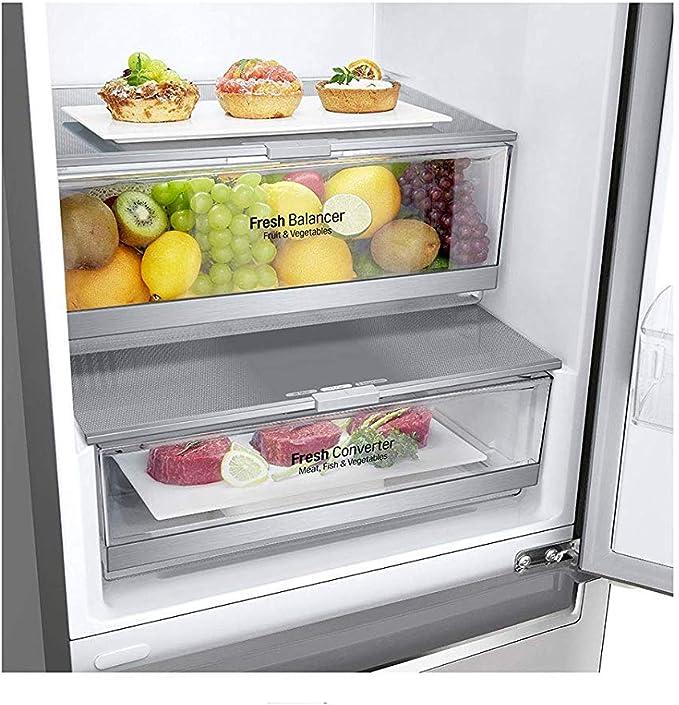 LG GBB72NSDFN nevera y congelador Independiente Acero inoxidable ...