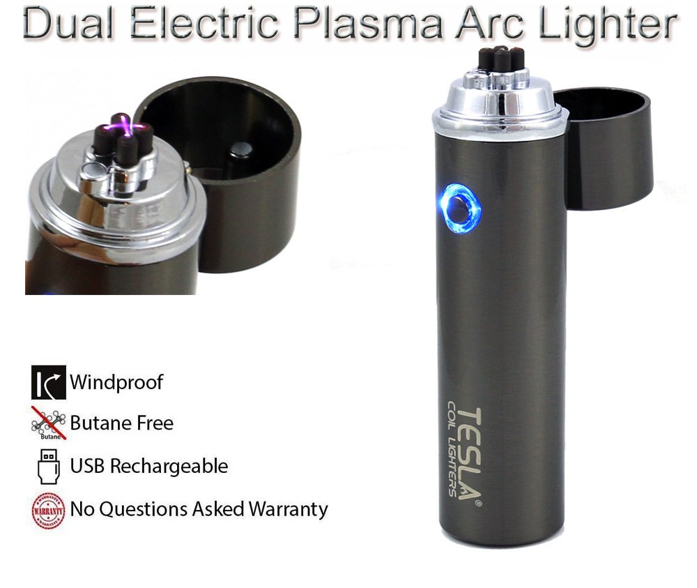 Amazon.com: Tesla Coil Lighters™ USB Rechargeable Windproof Dual Arc Lighter: Health & Personal Care