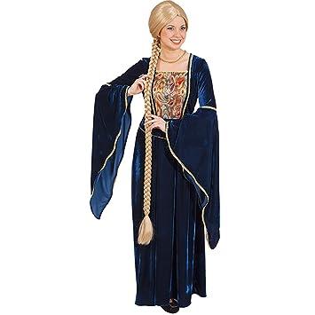Peluca Rapunzel Cabello de pega rubio con trenza Pelo trenzado largo Peluca mujer Oktoberfest Cabellera medieval