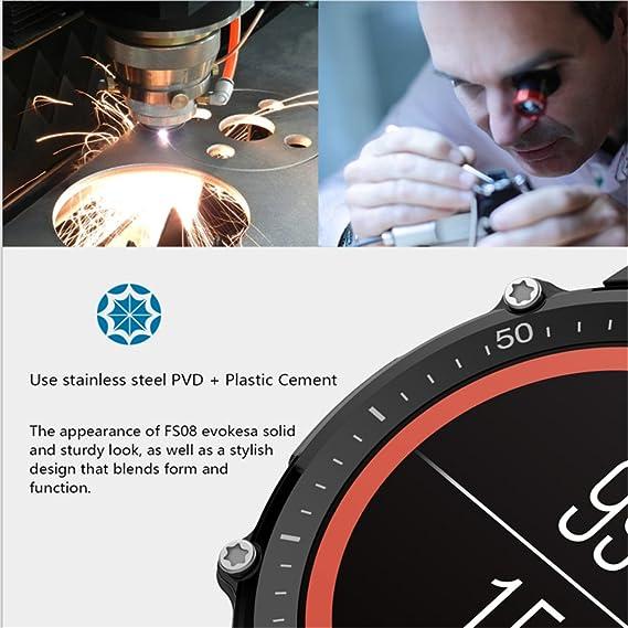 Amazon.com : layal FS08 Black Wristband Smart Watch GPS Compass Heart Rate Tracker Pedometer Bluetooth Sleep Monitor Clock Display Watch : Sports & Outdoors