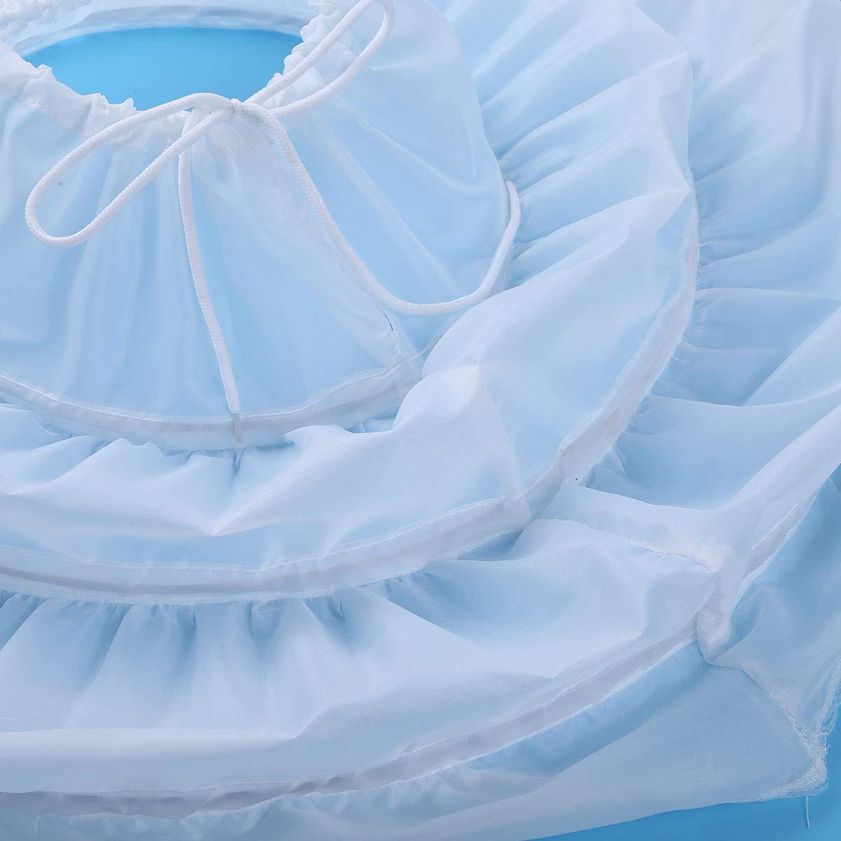 Freebily Kids Flower Girls Crinoline Petticoat 2 Hoops Net Wedding Bridesmaid Drawstring Underskirt Slip