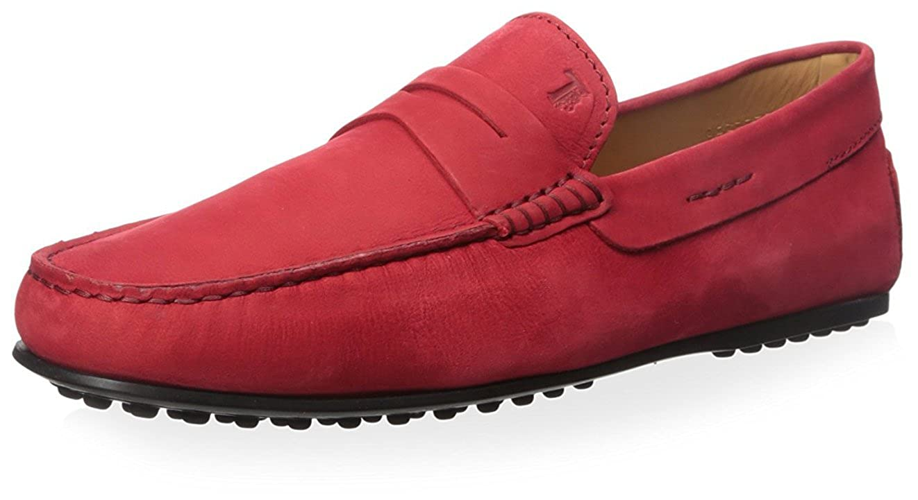 Amazon.com | Tods Mens Penny Driver Loafer, Red, 40 M EU/8 M US | Loafers & Slip-Ons