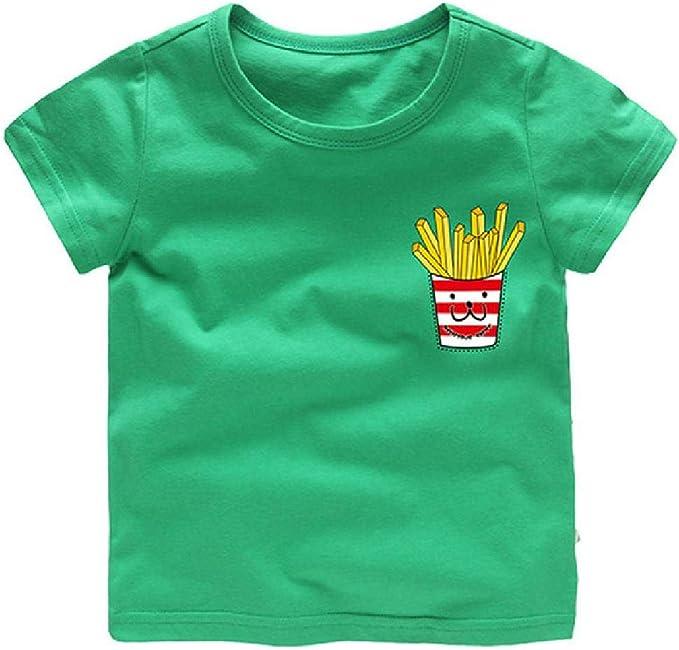 Camiseta de niños de Dibujos Animados para niños Camiseta de Manga ...
