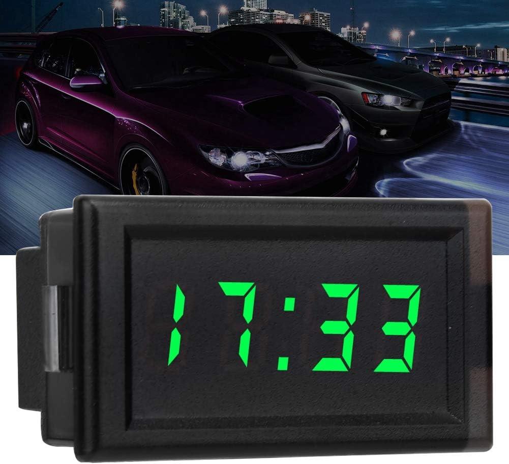 DC4.5-30V Waterproof Dustproof Car Auto Electronic Clock LED Digital Display Suuonee Car Digital Clock Green
