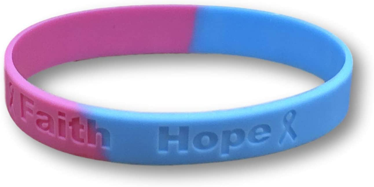 Latex and Toxin Free 1 Turner Syndrome Pink /& Blue Silicone Awareness Bracelet Medical Grade Silicone