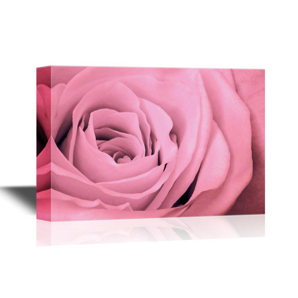 Floral Close Up Of Pink Rose Petals Canvas Art Wall26
