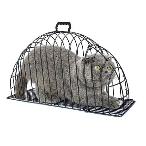 GFEU - Jaula de baño para Gatos, antiarañazos, de Metal, para ...