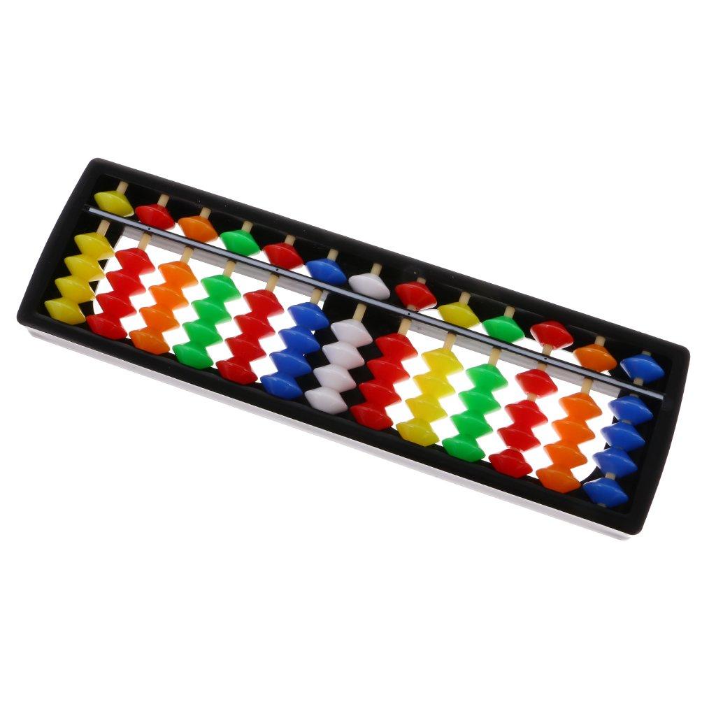 MagiDeal Boulier Chinois Abaque Plastique Perles Abacus Soroban Outil de Calcul Jouet Maths Scolaire #1 15 Barres