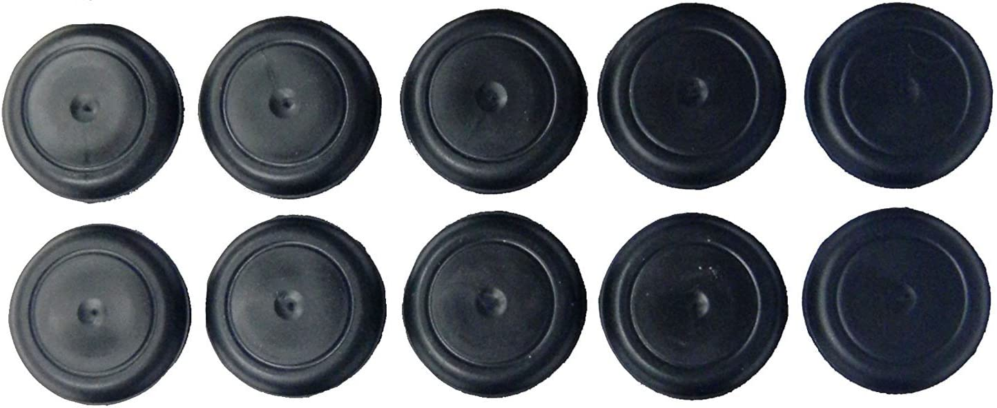 "(Pack of 8) 1"" Hole ID Caplugs - RUBBER Drain Plugs.