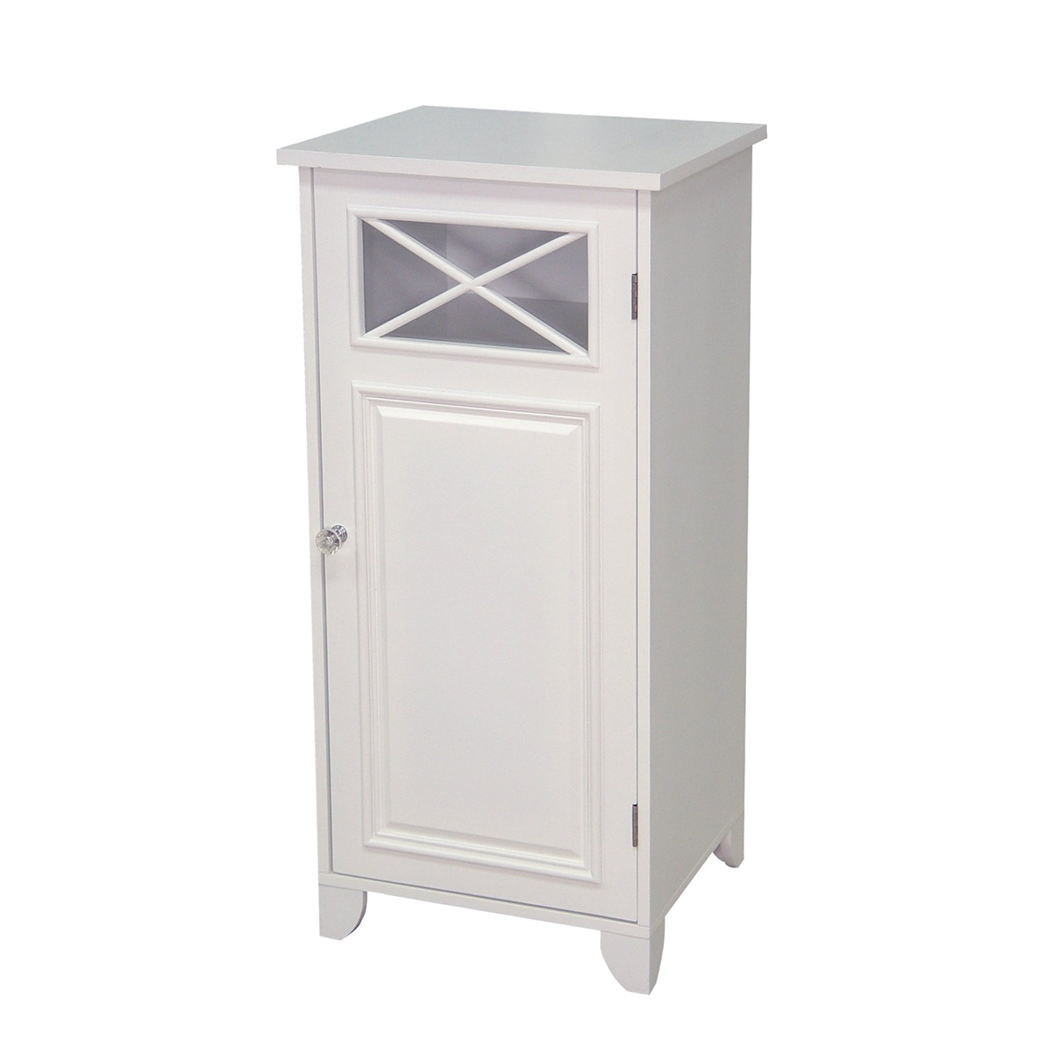 Ikea bathroom floor cabinet - Amazon Com Elegant Home Fashions Dawson Collection Shelved Floor Cabinet White Kitchen Dining