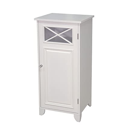 Merveilleux Elegant Home Fashions Dawson Floor Cabinet With Single Door, White