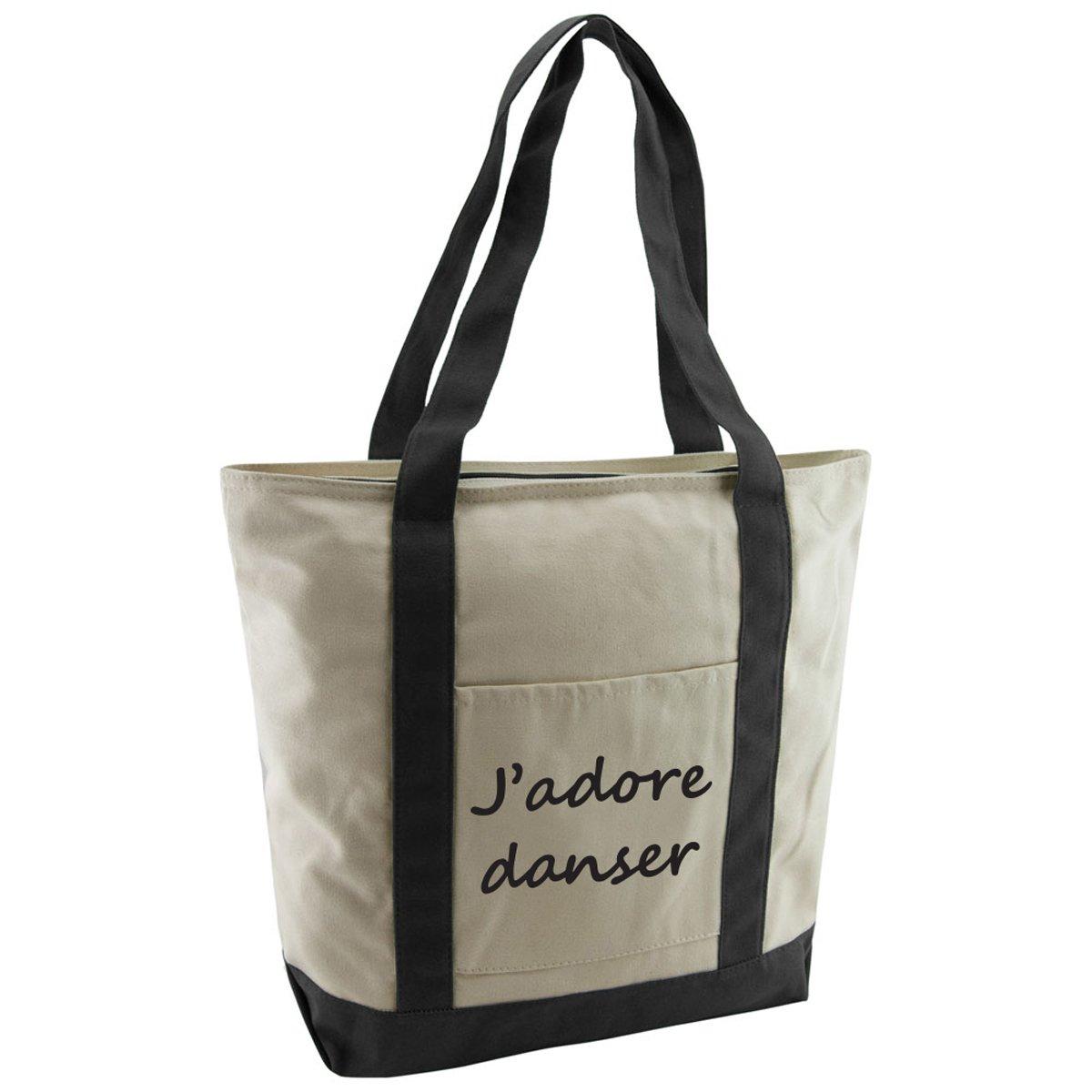 597c18cb6d5e Women s Dance Saying Cotton Canvas Tote Bag - J adore Danser on sale ...