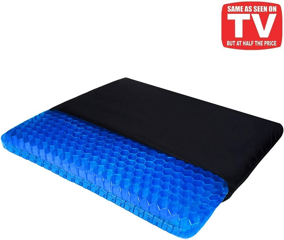 Gel Seat Cushion, Egg Seat Cushion Chair Pads with Non-Slip Cover for Home Office Car Wheelchair, Breathable Honeycomb Design Help Relieve Pain