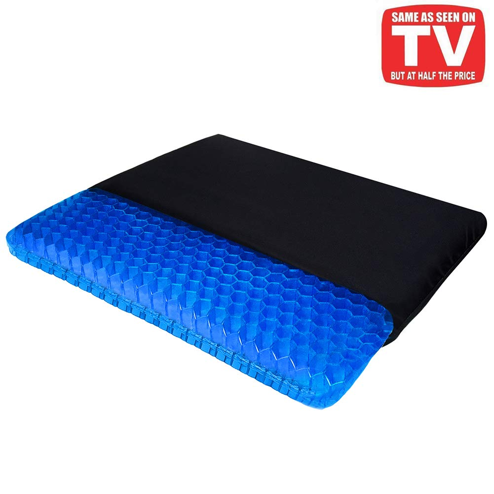 Gel Seat Cushion, Egg Seat Cushion Chair Pads with Non-Slip Cover for Home Office Car Wheelchair, Breathable Honeycomb Design Help Relieve Pain by Helishy