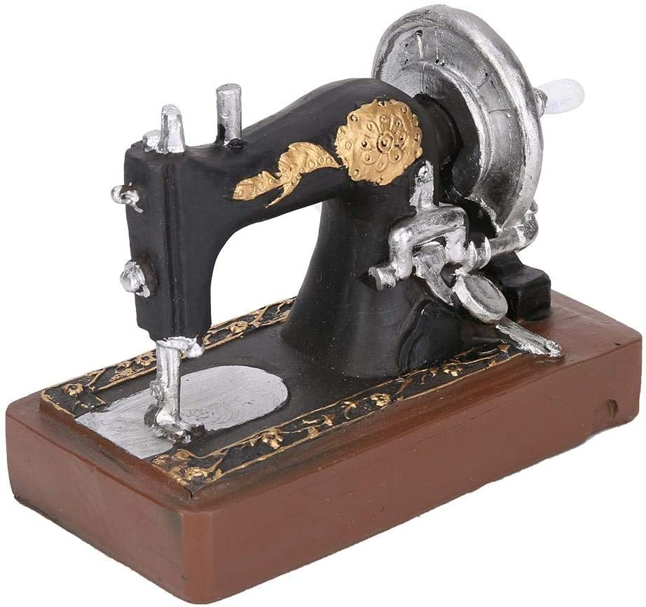 Vintage máquina de Coser de Resina Adorno Arte Craft Oficina Home ...