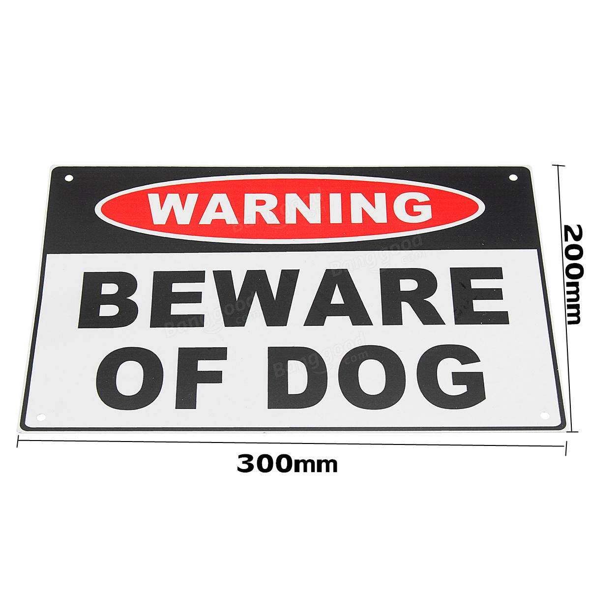 CCTV Security Accessories Warning Sign - 200x300mm Warning Beware of Dog Aluminium Safety Warning Sign House Door Wall Sticker - 1 x Warning Sign Details Pictures: