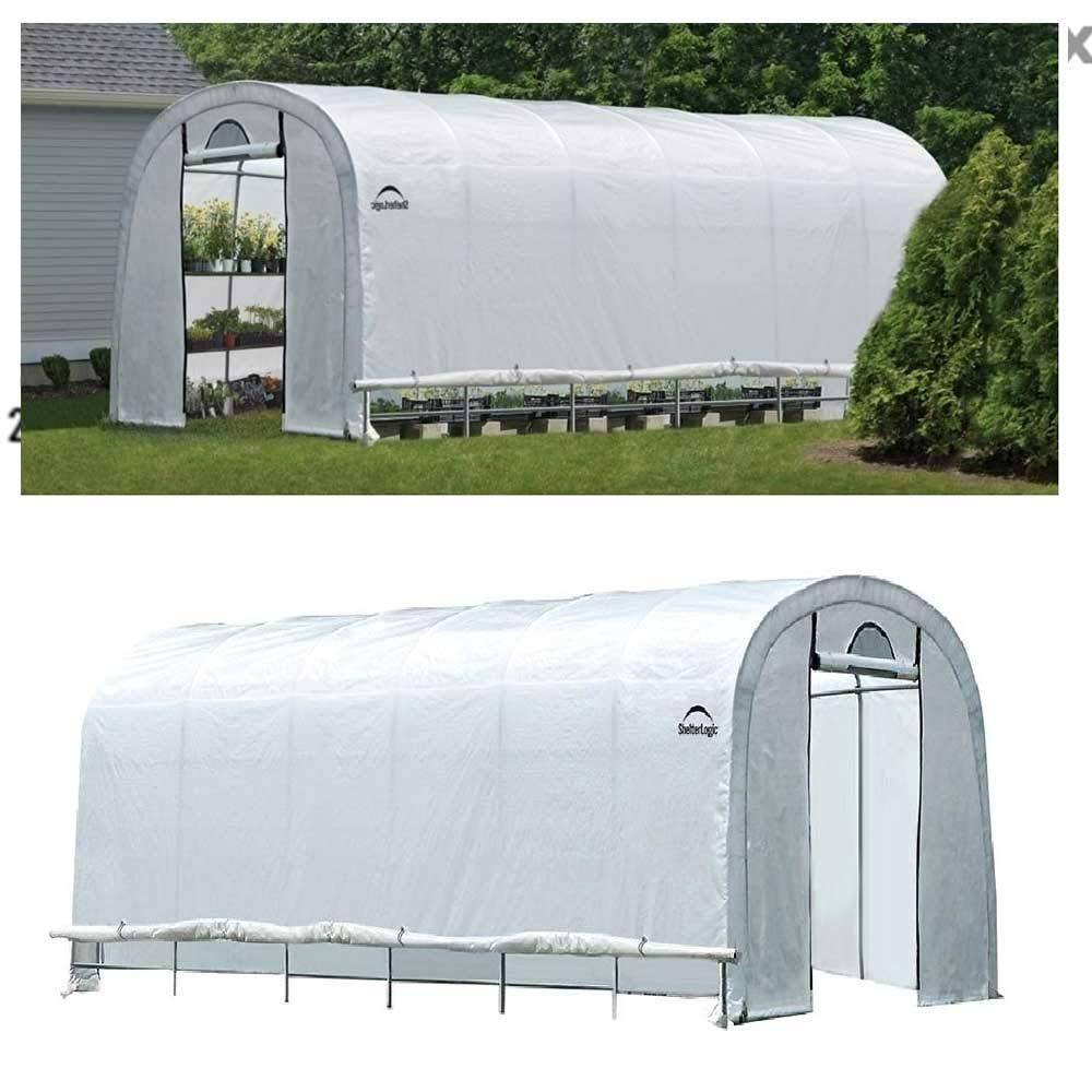 12 x 24ft Rowlinson Shelterlogic 8x8 Peak Style Greenhouse