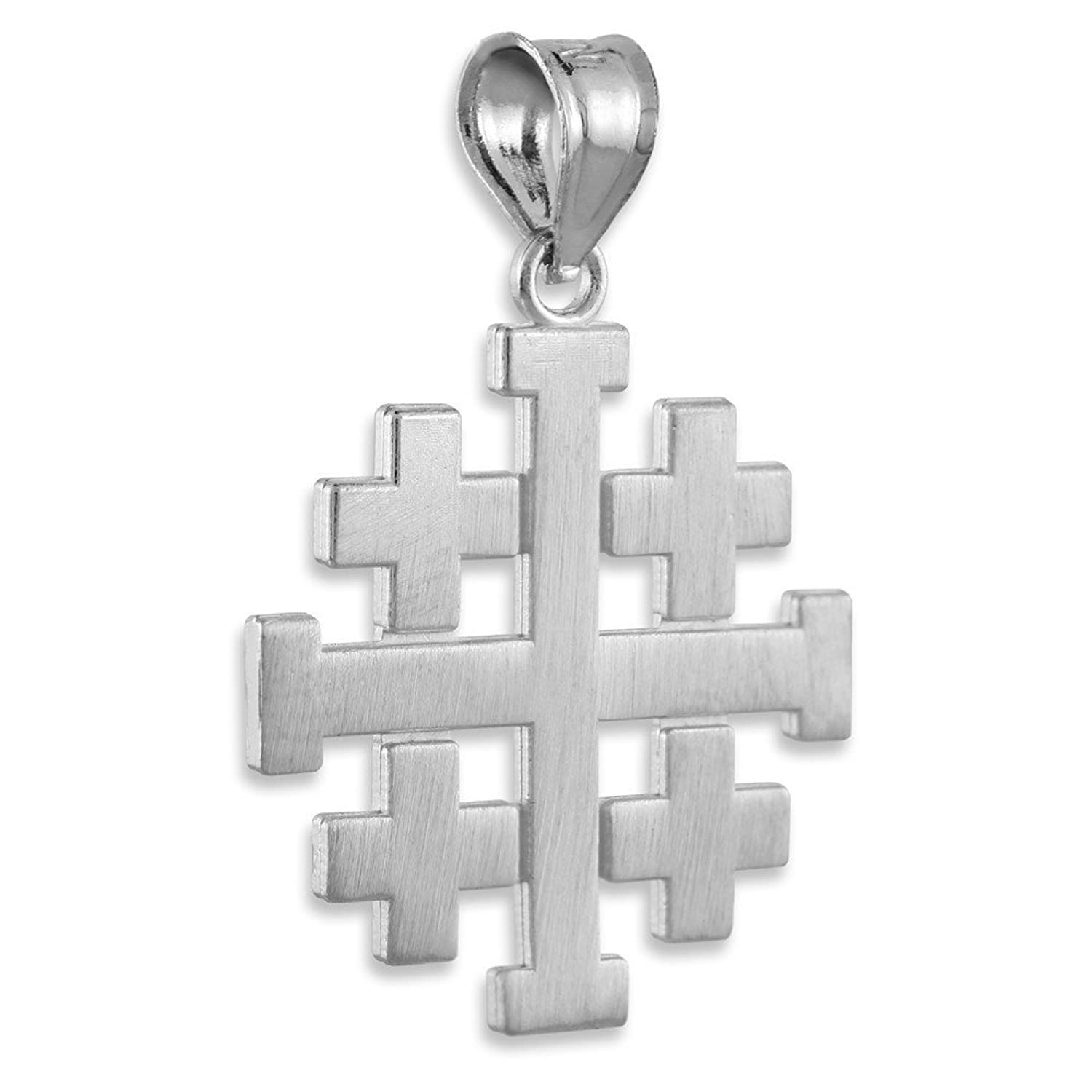 cross company wishlist the add catholic necklace silver sterling pendant to jerusalem cart