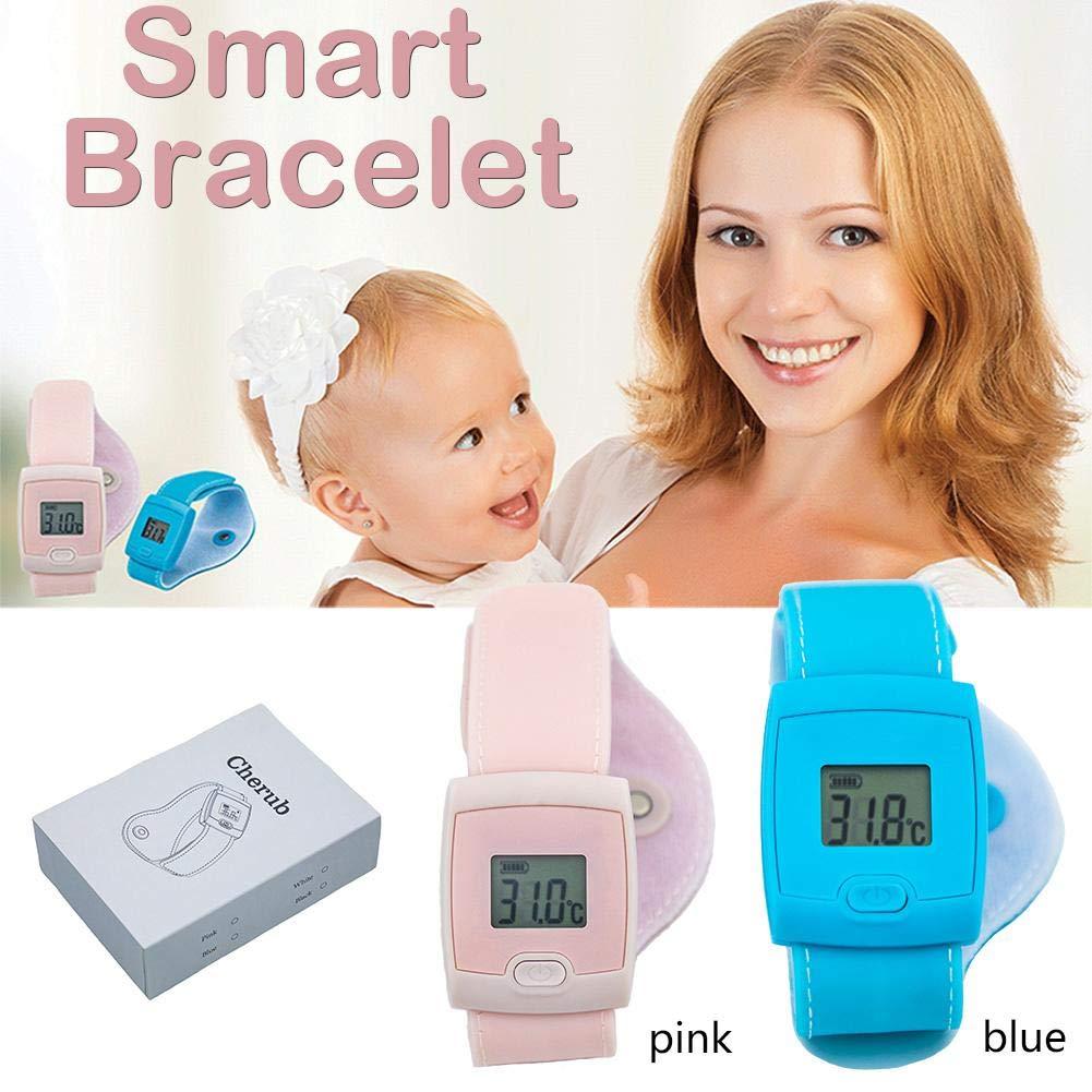 Pulsera inteligente de control de fiebre de bebé, termómetro digital LED para niños, adultos, tiempo real, niños, apoyo a la temperatura corporal, niños y smartphones, monitorización en tiempo real Comaie®