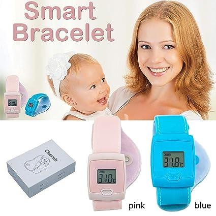 Pulsera inteligente de control de fiebre de bebé, termómetro digital LED para niños, adultos