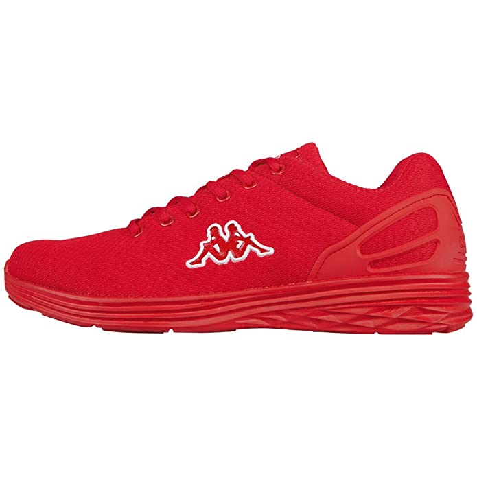 Kappa Follow Sneakers Damen Herren Unisex Rot/Weiß (rote Sohle)