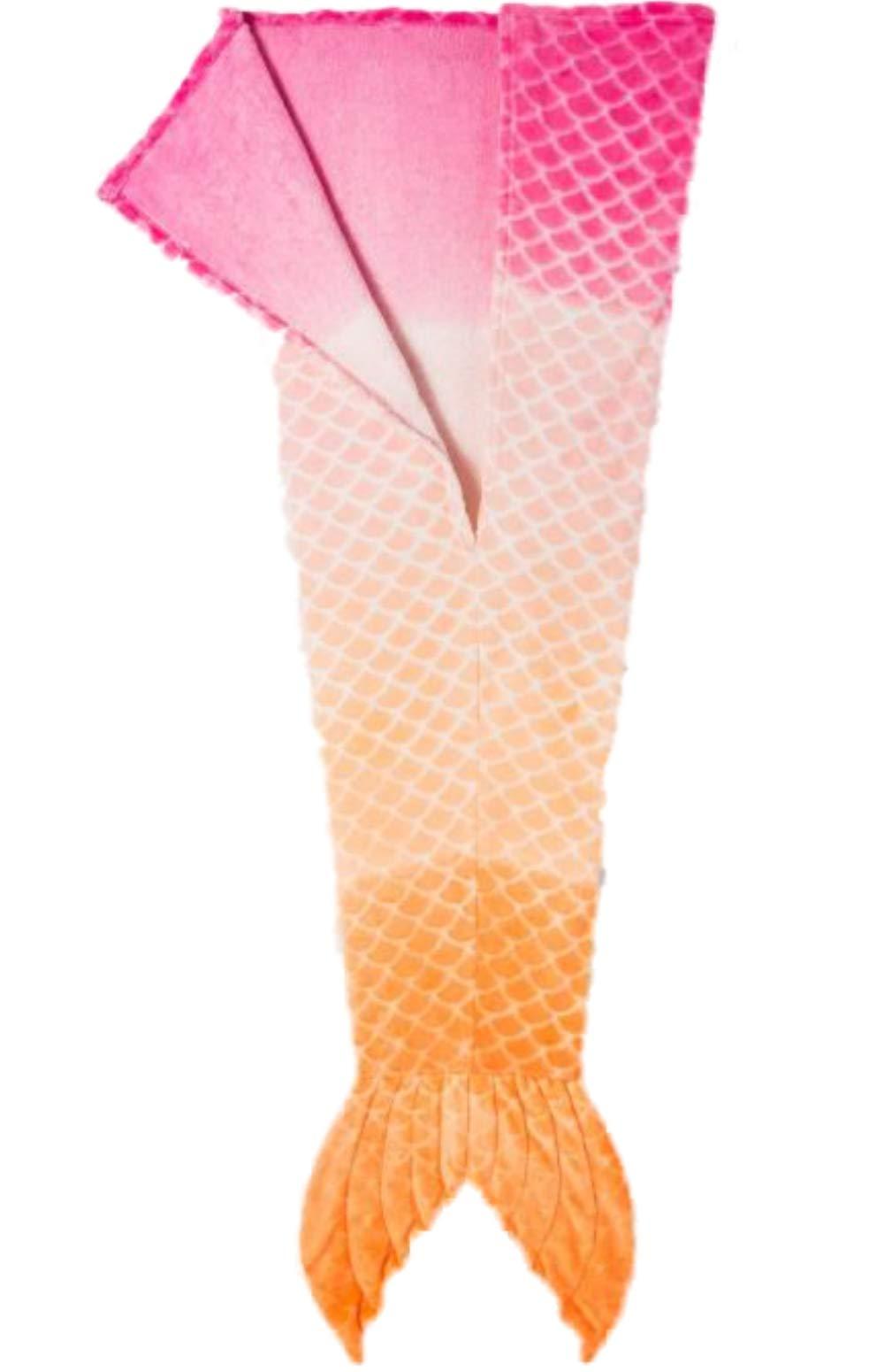 Pillowfort Pink Ombre Mermaid Tail Blanket