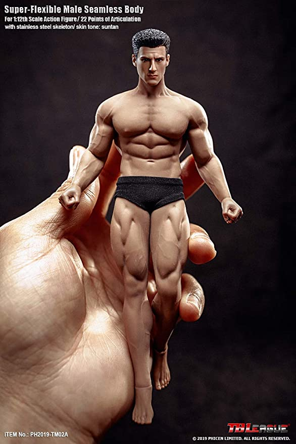 "1//6 Seamless Muscular Male Figure Body Action Doll 12/"" Fit Phicen TBLeague Head"