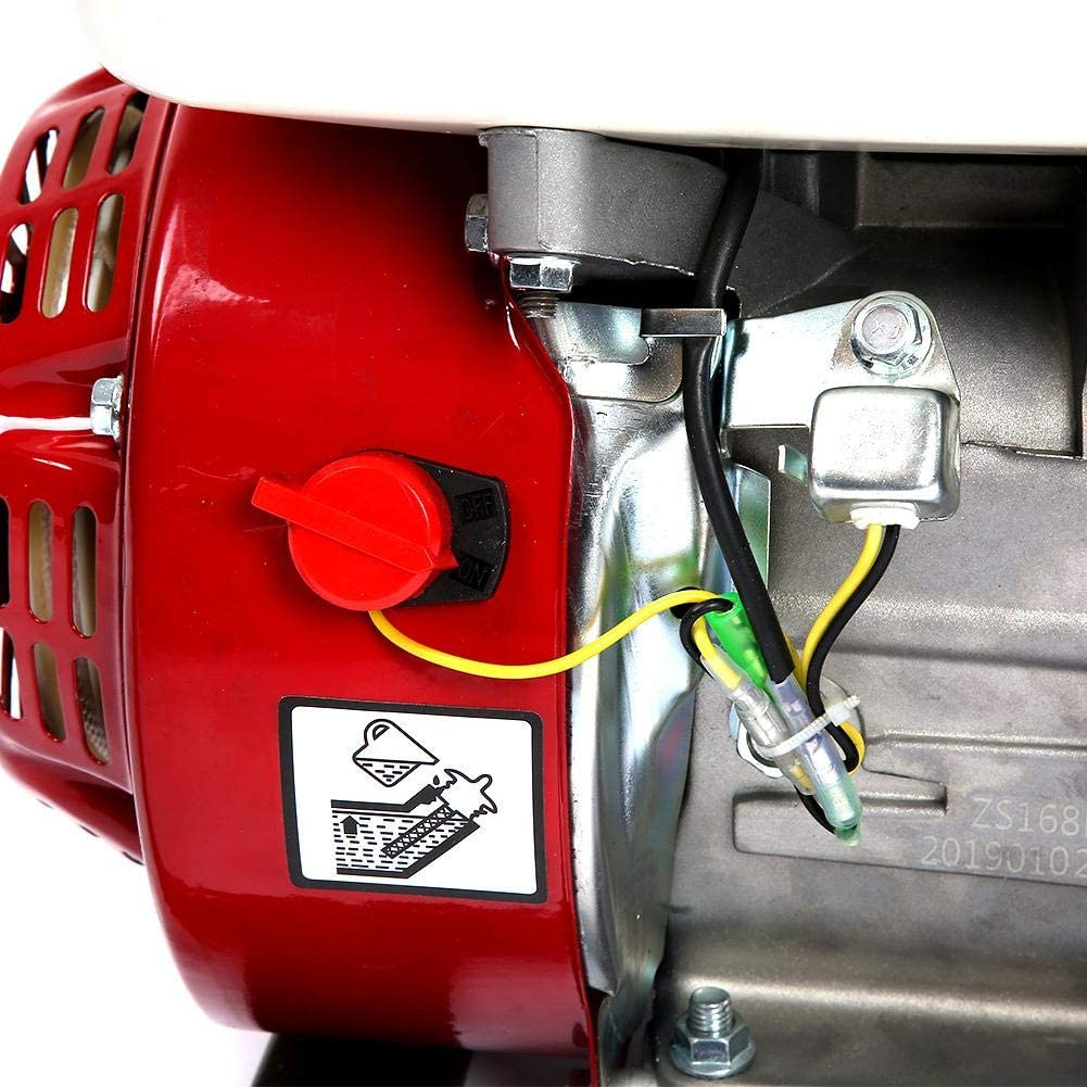 Hauteur de refoulement 28m Connection 3 Pouces 6,5HP 13000GPH Pompe /à Eau Moteur Essence Motopompe Pompe darrosage Pompe de Jardin Hauteur daspiration 7m