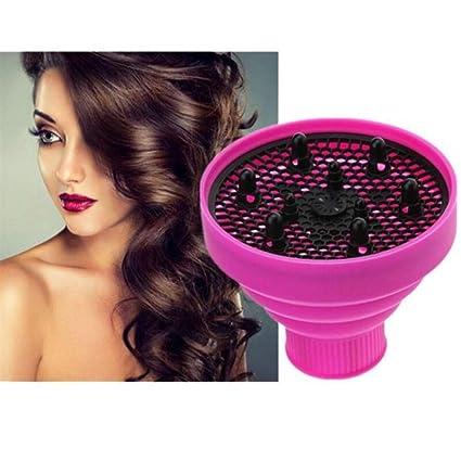 Difusor de silicona plegable, secador de pelo rizado, secador de pelo natural rizado,